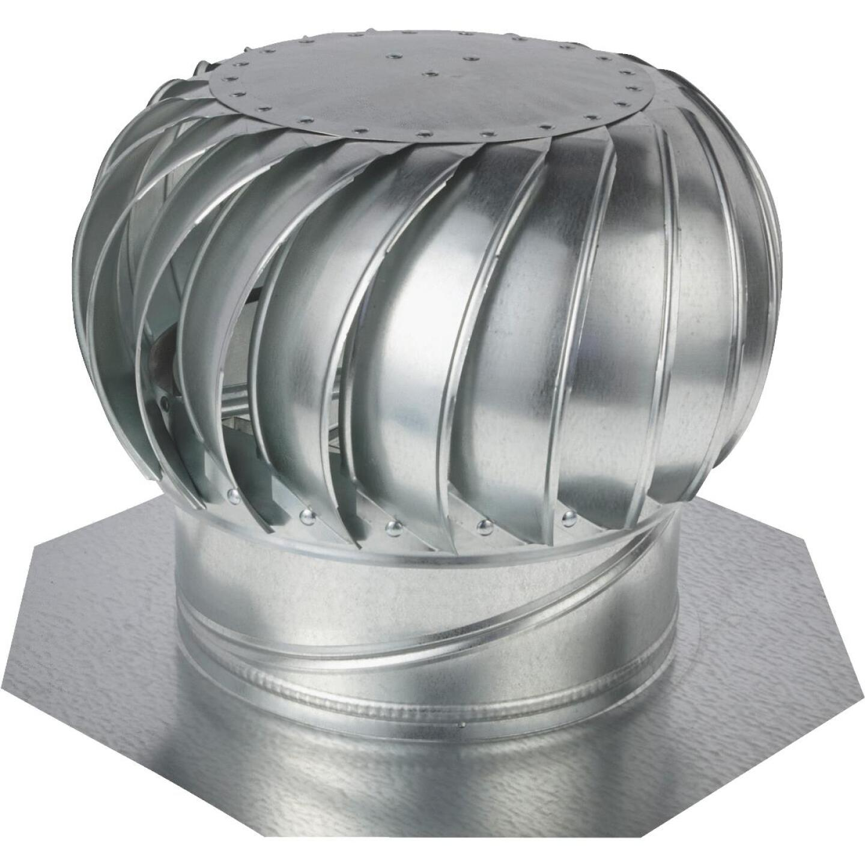 "Ventamatic Cool Attic 12"" Galvanized Steel Mill Wind Turbine Attic Vent Image 1"
