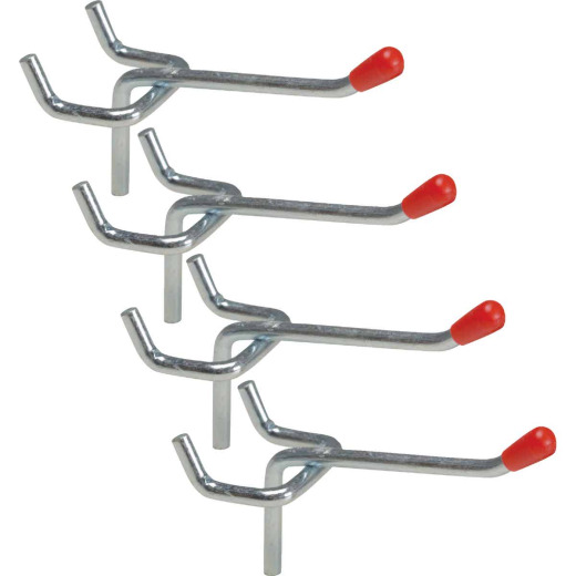 2 In. Light Duty Safety Tip Straight Pegboard Hook (4-Count)