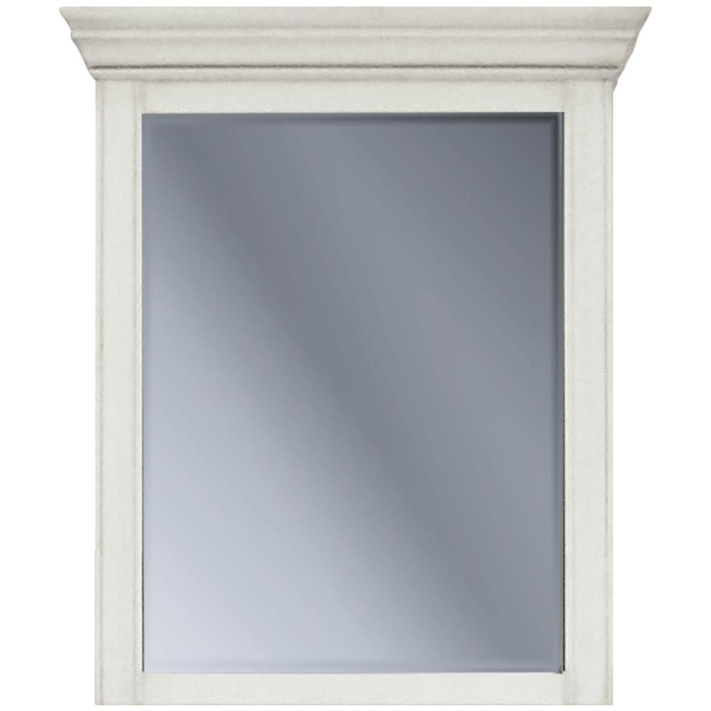 Sunny Wood Bristol Beach White 27 In. W x 32 In. H x 6-1/2 In. D Single Mirror Surface Mount Medicine Cabinet Image 1