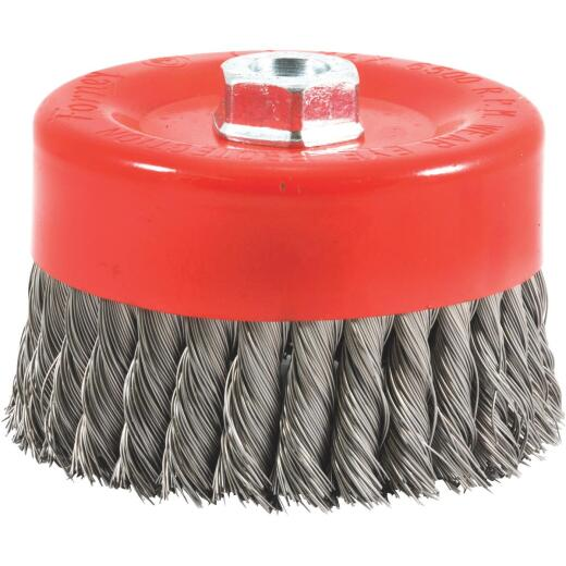 Forney 6 In. Knotted .020 In. Angle Grinder Wire Brush