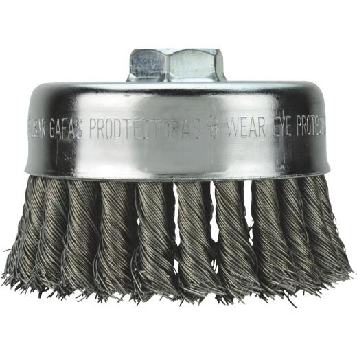 Milwaukee 4 In. Knotted .020 In. / .023 In. Angle Grinder Wire Brush