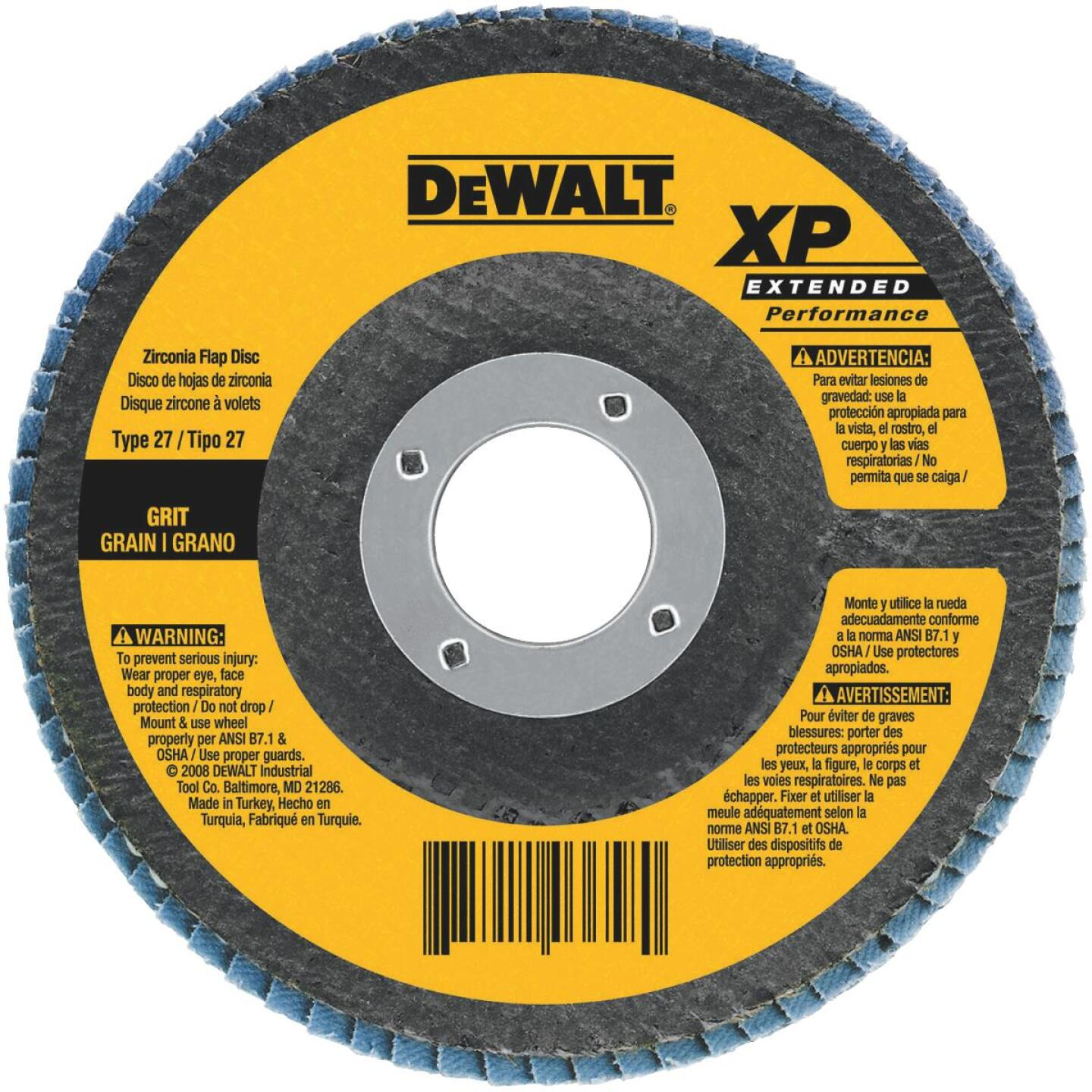 DeWalt 4-1/2 In. 36-Grit Type 29 High Performance Angle Grinder Flap Disc Image 1