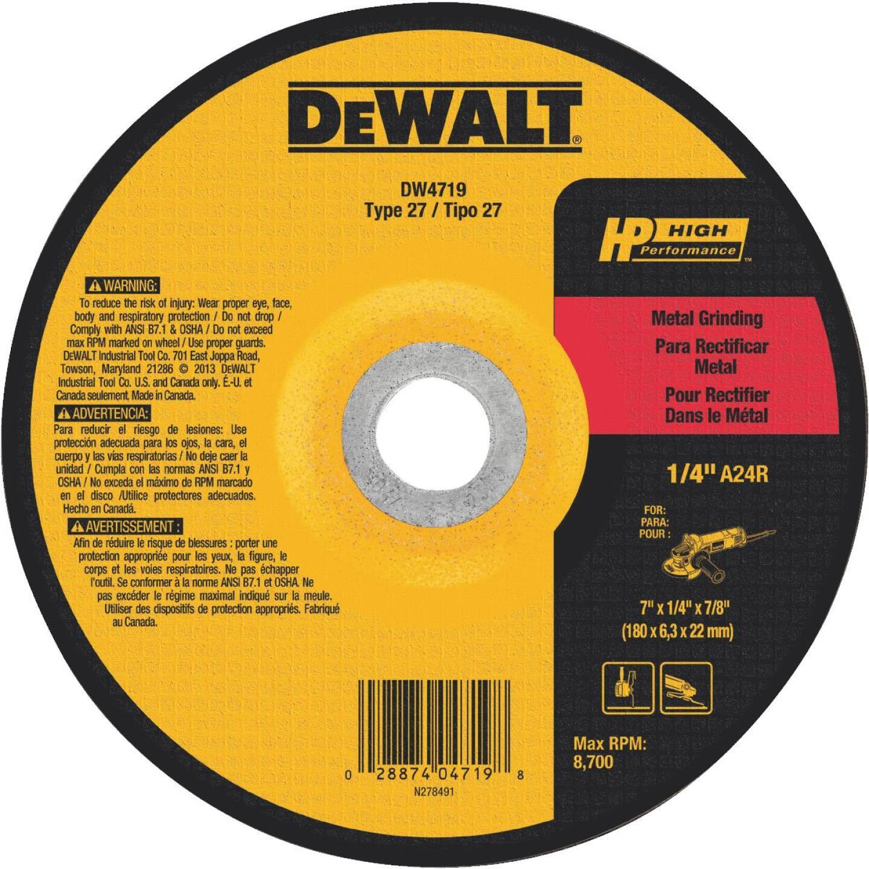 DeWalt HP Type 27, 7 In. Cut-Off Wheel Image 1