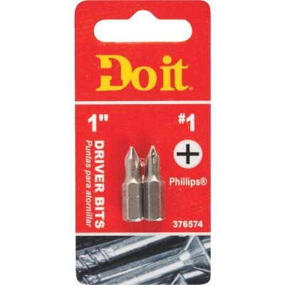 Do it #1 Phillips 1 In. Insert Screwdriver Bit (2-Pack)