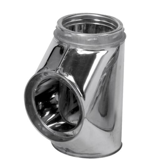 SELKIRK Sure-Temp 8 In. Stainless Steel Insulated Tee with Cap