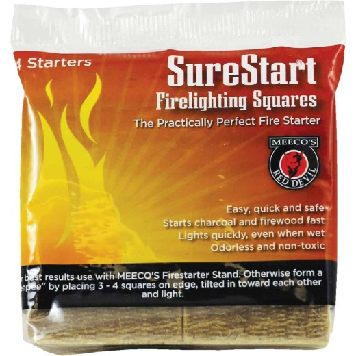 Meeco's Red Devil SureStart Fire Starter Squares (4-Pack)