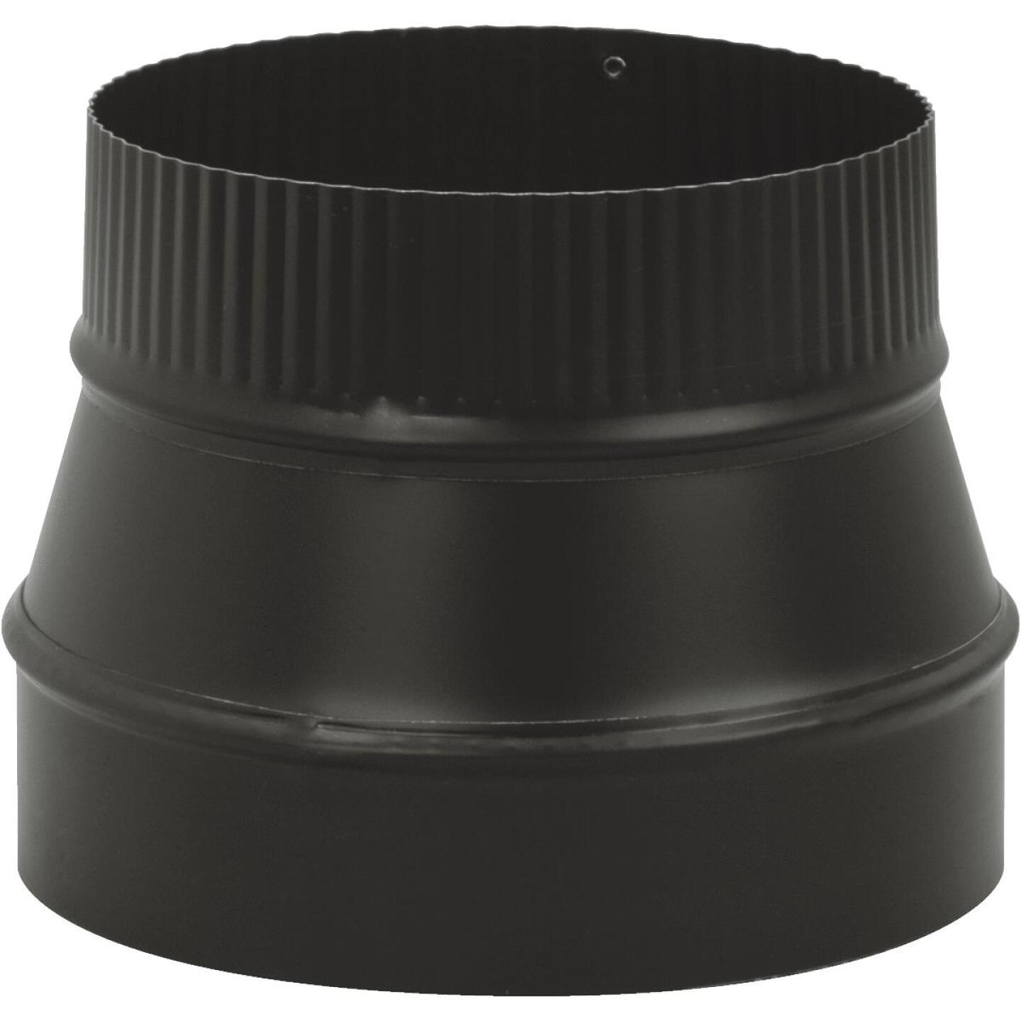 Imperial Single Wall 8 In. - 7 In. 24 ga Black Reducer Image 1