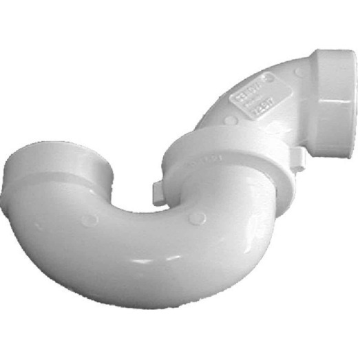 Charlotte Pipe 1-1/2 In. White PVC P-Trap with Union