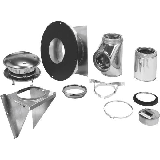 SELKIRK Sure-Temp 6 In. Stainless Steel Thru-The-Wall Chimney Support Kit