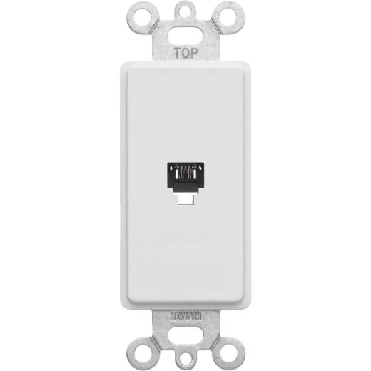 Leviton Decora White Flush Mount Telephone Jack