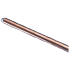 Erico 5/8 In. x 8 Ft. Steel Core Copper Bonded Ground Rod Image 1