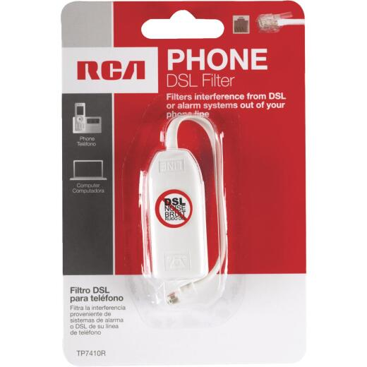 RCA DSL & Phone or Security System DSL Line Filter