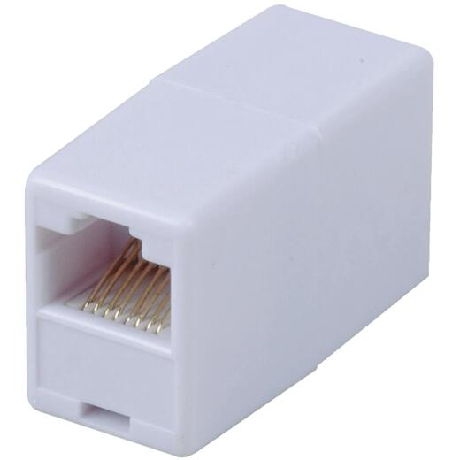 RCA White Phone Cord Coupler