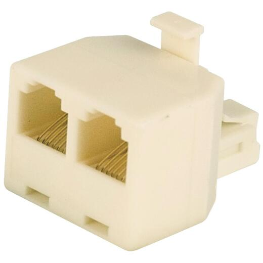 RCA Almond 2-Line Phone Splitter