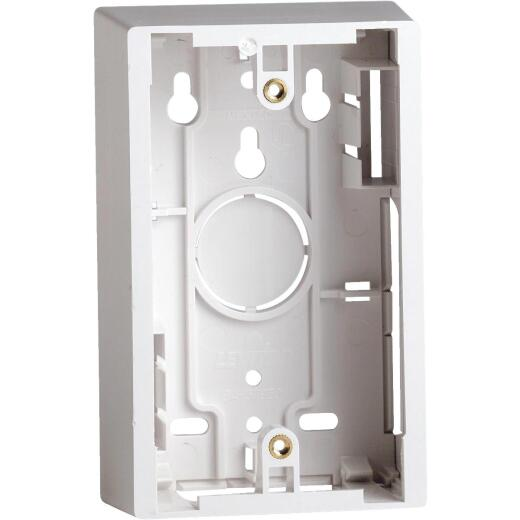 Leviton White 1.89 In. Shallow Wiring Box