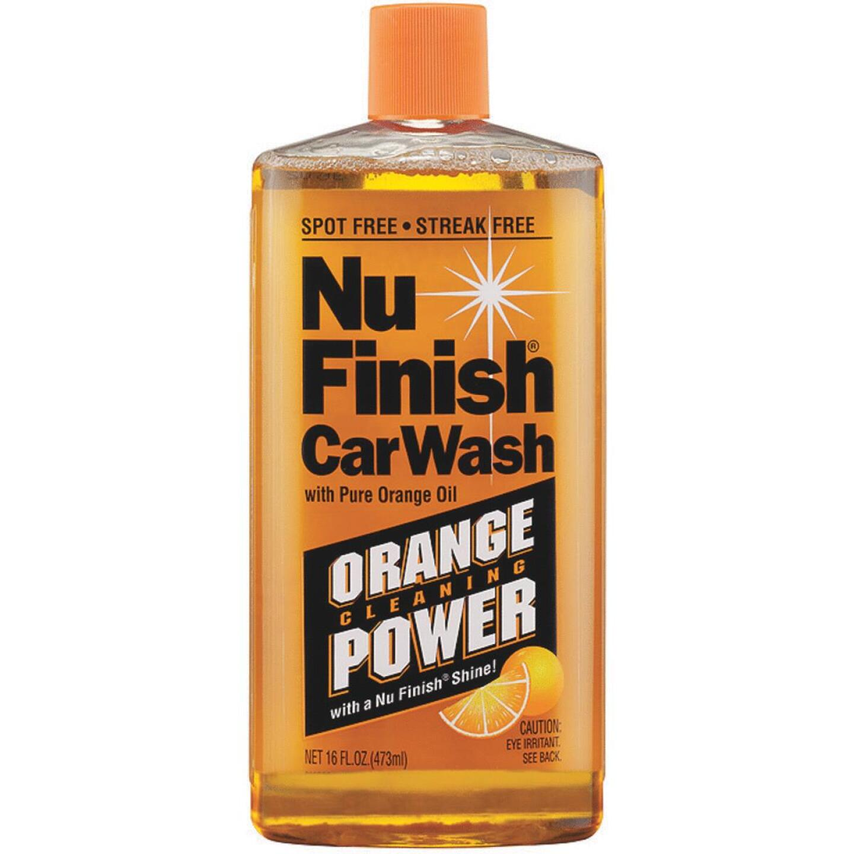 Nu Finish 16 Oz. Liquid Concentrate Orange Cleaning Power Car Wash Image 1