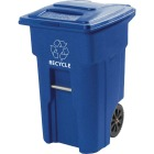 Toter 32 Gal. Recycling Trash Can with Lid Image 1