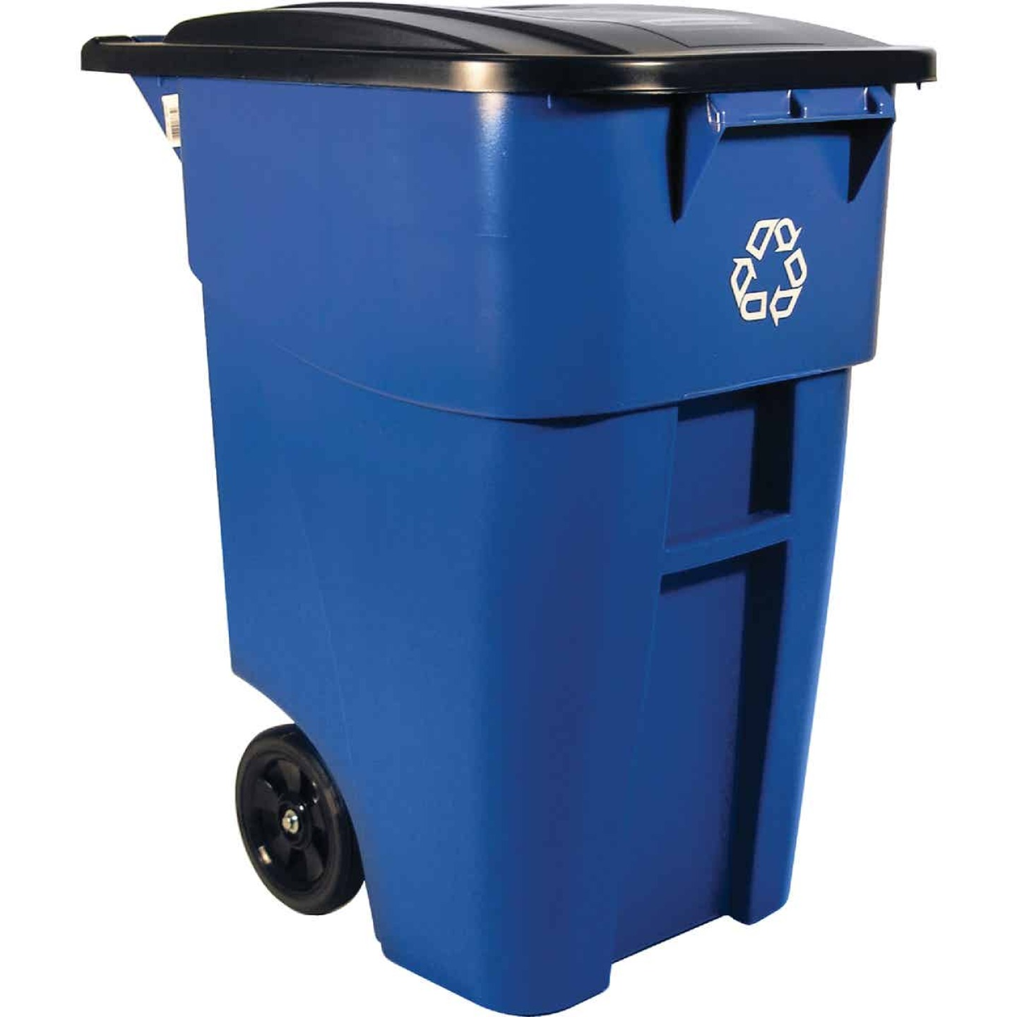 Rubbermaid 50 Gal. Recycling Trash Can with Lid Image 1