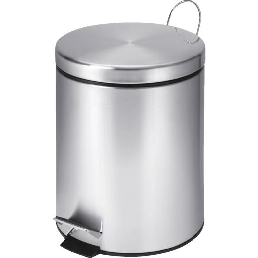 Honey Can Do 5 Liter Stainless Steel Step-On Wastebasket