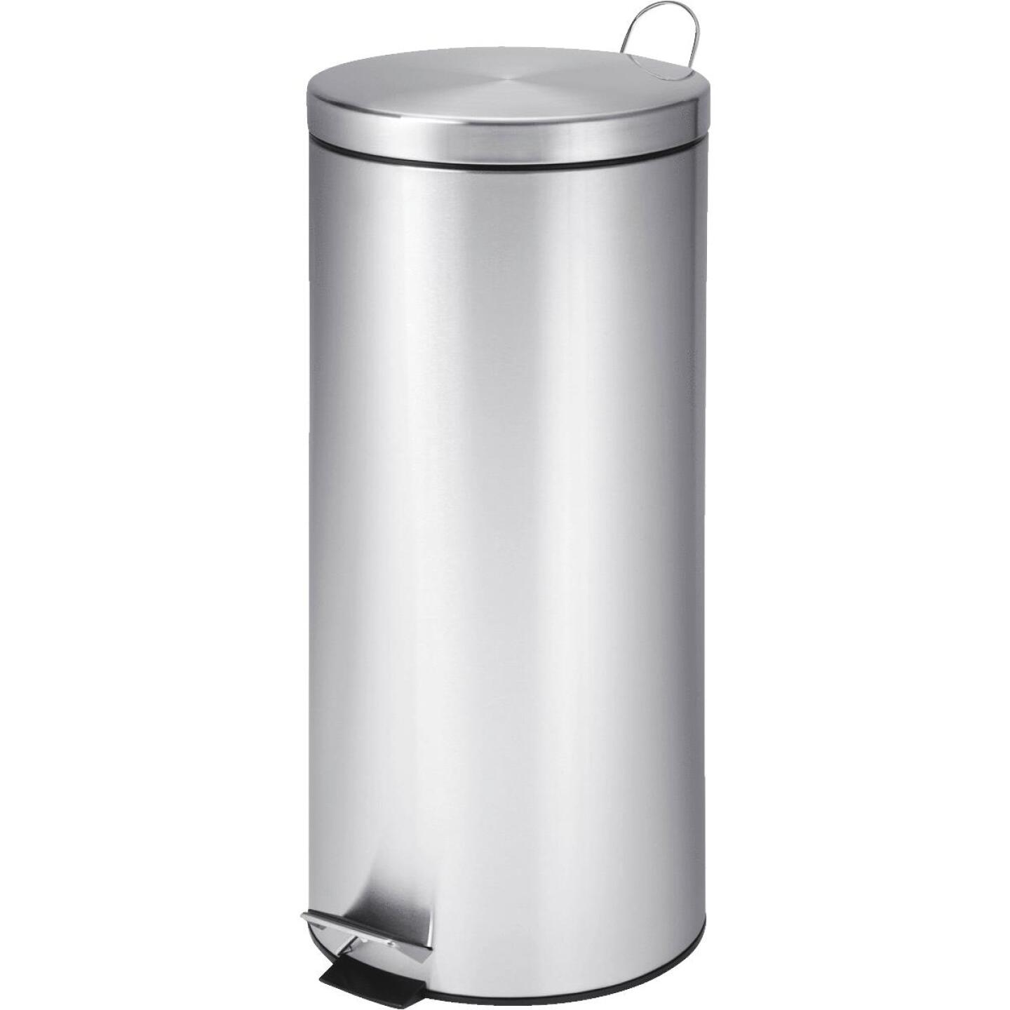 Honey Can Do 30 Liter Stainless Steel Step-On Wastebasket Image 1