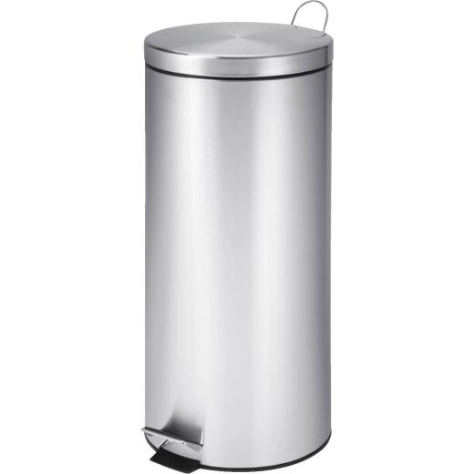 Honey Can Do 30 Liter Stainless Steel Step-On Wastebasket