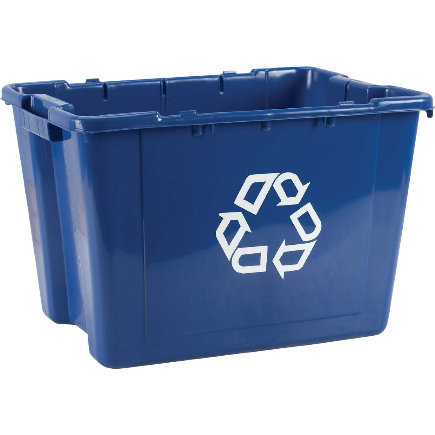 Rubbermaid Commercial 14 Gal. Blue Recycling Box Image 1