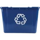 Rubbermaid Commercial 14 Gal. Blue Recycling Box Image 3