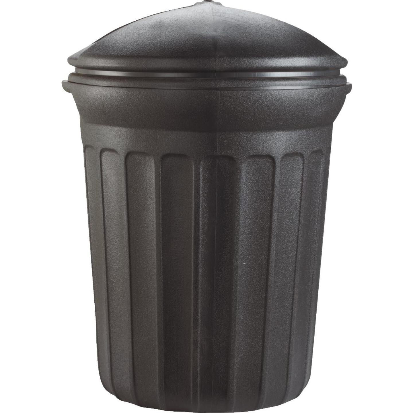 United Solutions Rough & Rugged 32 Gal. Black Trash Can with Lid Image 4