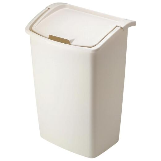 Rubbermaid 42 Qt. Bisque Wastebasket with Lid