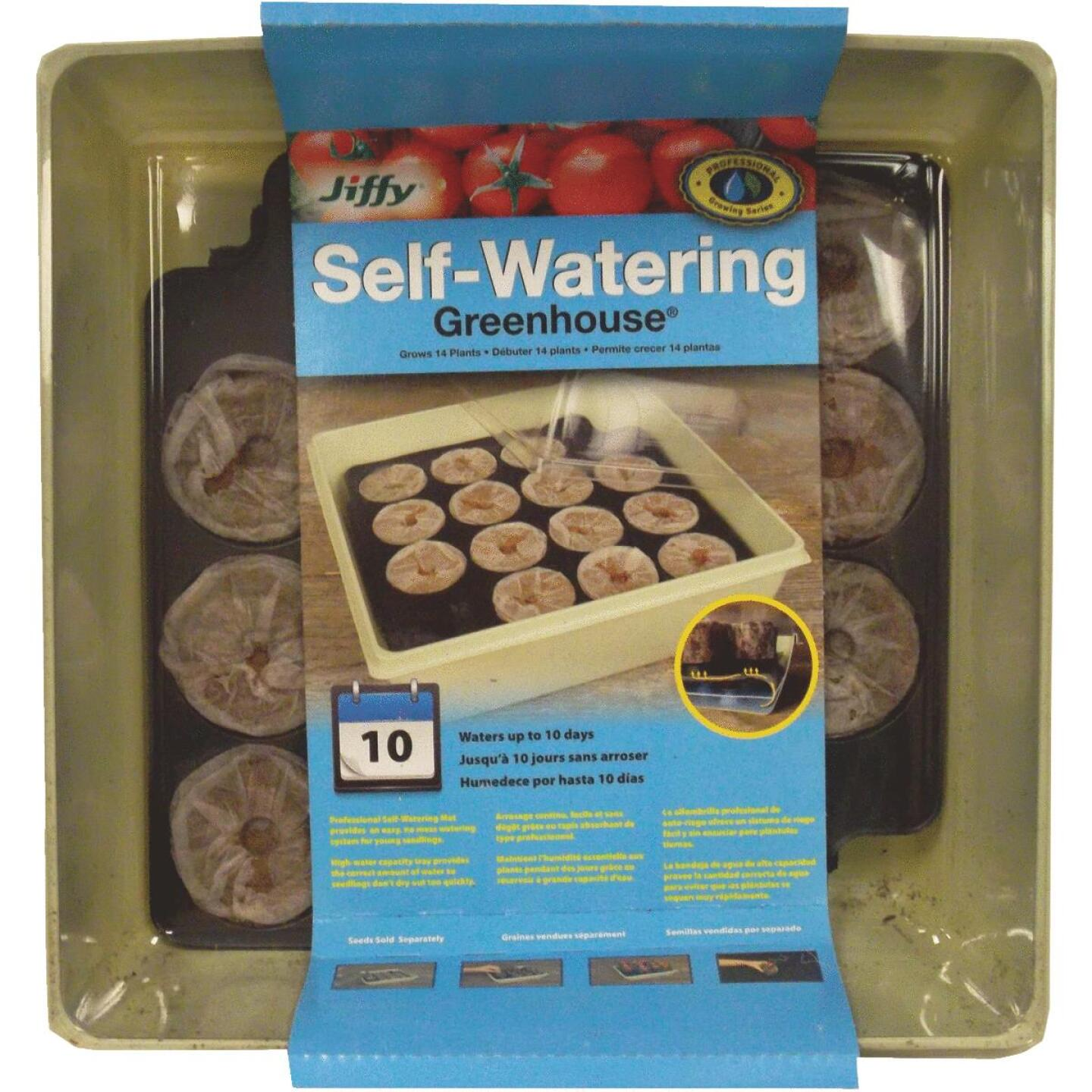 Jiffy 14-Cell Self-Watering Greenhouse Seed Starter Kit Image 1