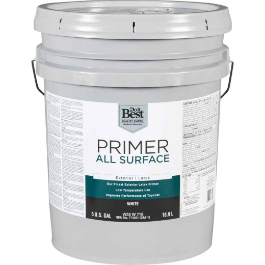Do it Best White Exterior Primer, 5 Gal.