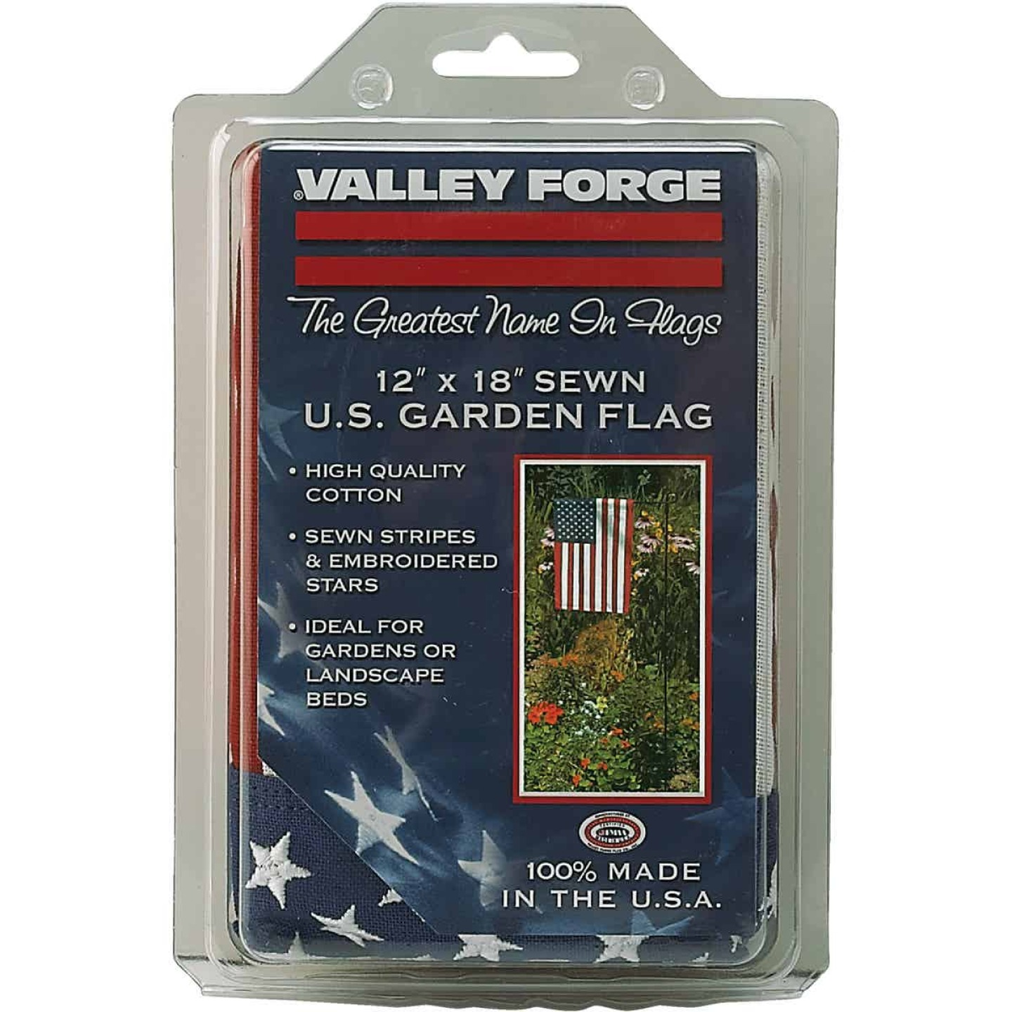 Valley Forge 1 Ft. x 1.5 Ft. Cotton Garden American Flag Image 3