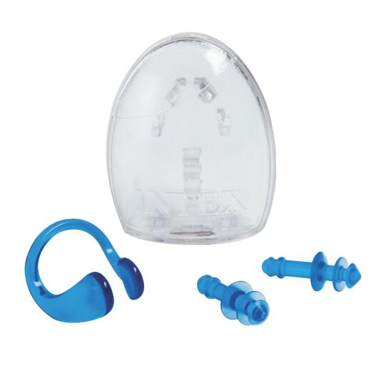 Intex Soft Rubber Nose and Ear Plugs with Case