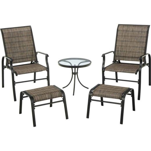 Outdoor Expressions Windsor 5-Piece Sling Chat Set